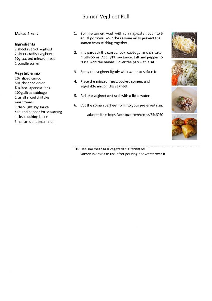Somen Vegheet Roll Recipe